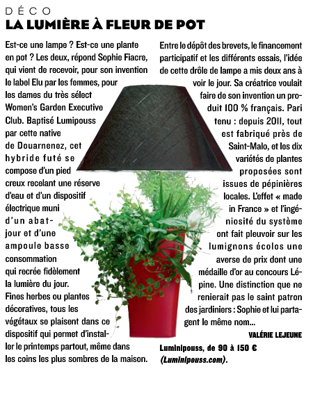 Lumipouss - le figaro magazine 8 Avril 2016