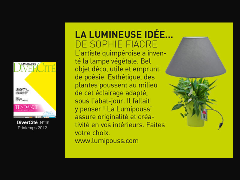 Lumipouss' article Emeraude DiverCité